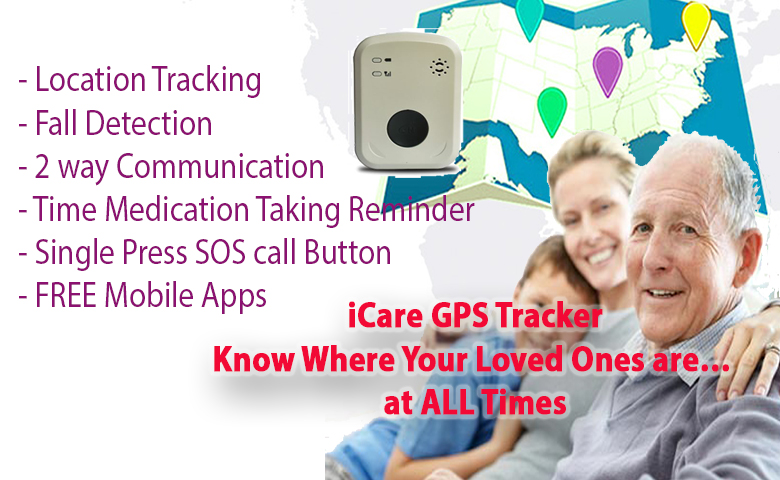 Dementia / Elderly GPS Monitoring & Fall Detection Alarm