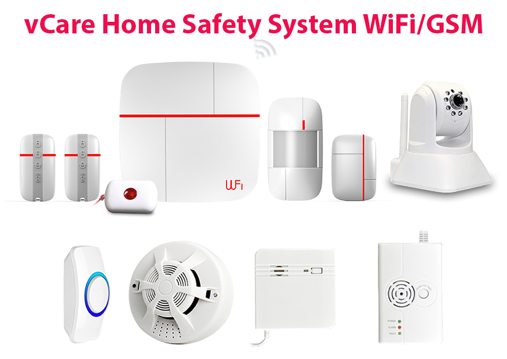 vCare Smart Home Security System WiFiGSM 3