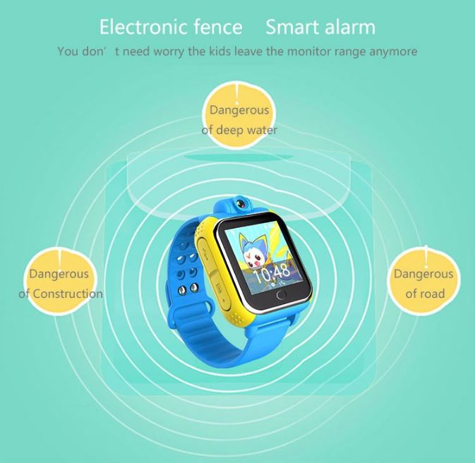 3G Kids GPS Tracker Watch - Electronic Fence - Smart Alarm