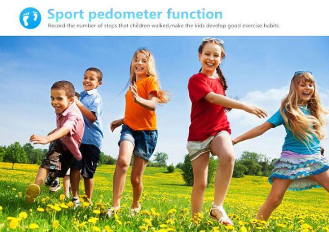 3G Kids GPS Tracker Watch - Sport Pedometer