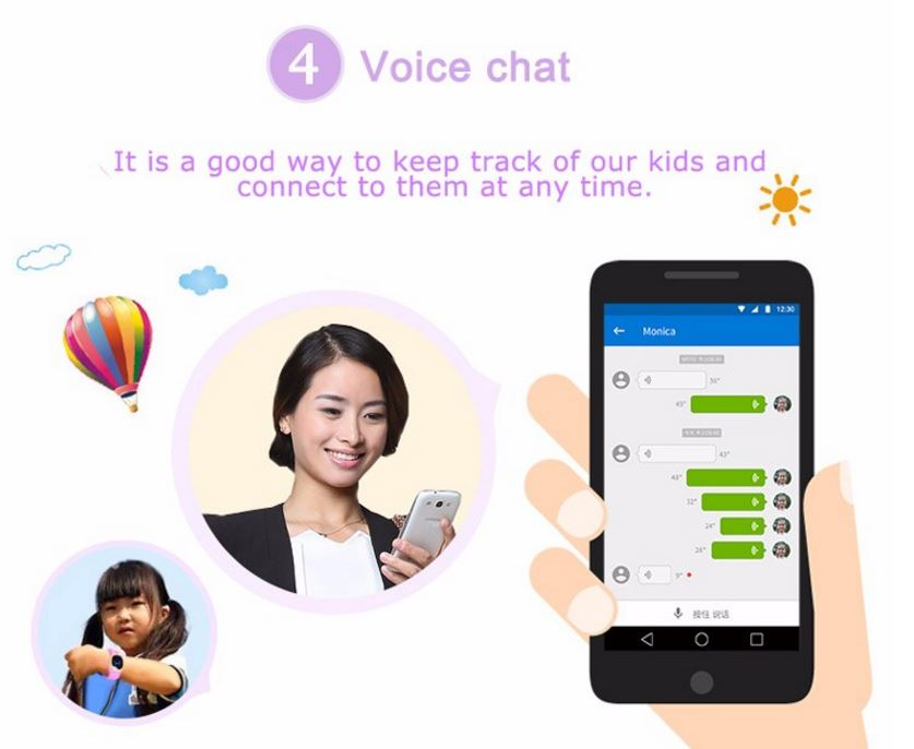 3G Kids GPS Tracker Watch - Voice Chat