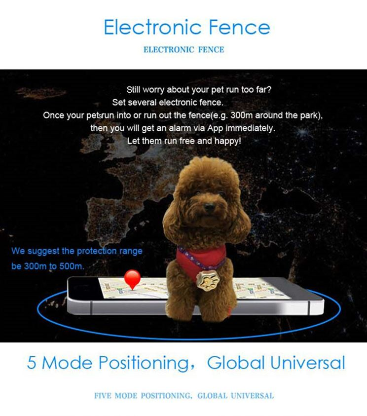 3G Pet GPS Tracker - Geo-fence