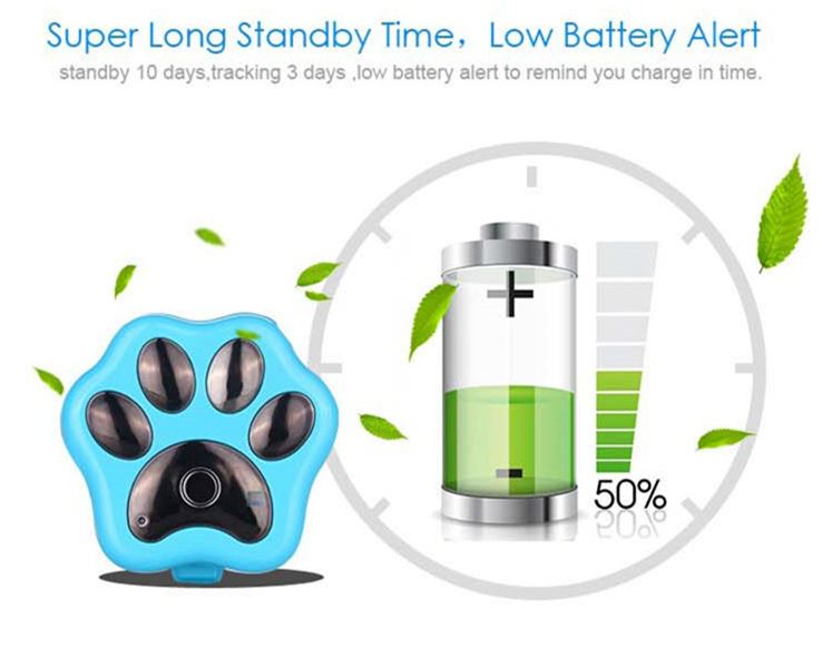 3G Pet GPS Tracker - Super Long Standby Time, Low Battery Alert