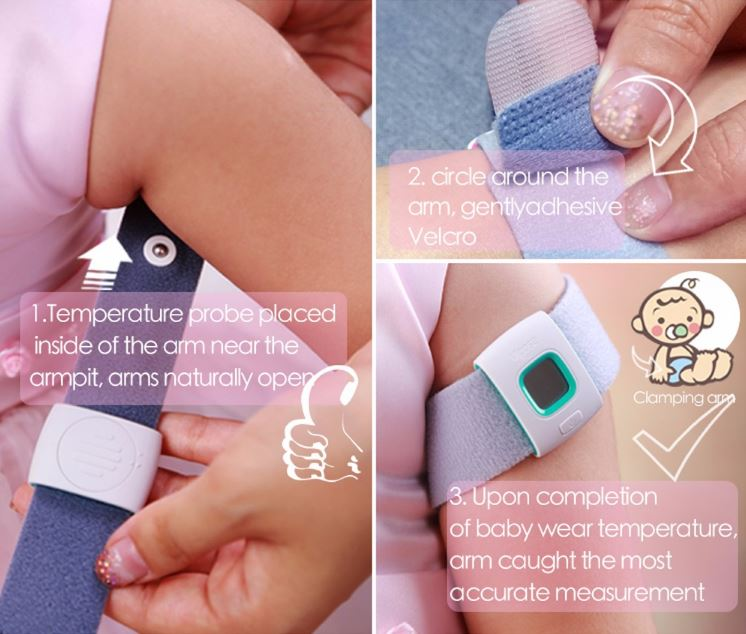iFever - Intelligent Thermometer - Easy to wear one step 02