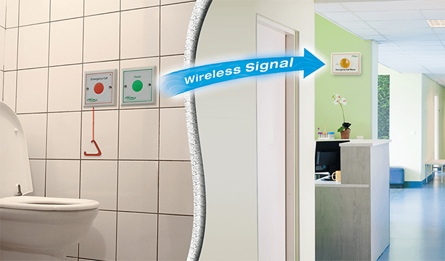 Handicap Elderly Toilet Emergency Alarm - Call Button n Light System