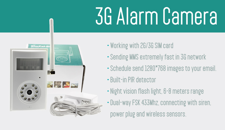 iAlert - Wireless Motion Detection Camera - CCTV - Support 3G Sim Card